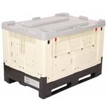 Kunststoff SmartBox Faltbare Großbehälter 1200x800x790 mm, Glatte und geschlossene Wände, 565 Liter