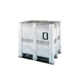 Höhe Palettenbox, 1300x1150x1250 mm, 1400 Liter, 3 Kufen,  geschlossen