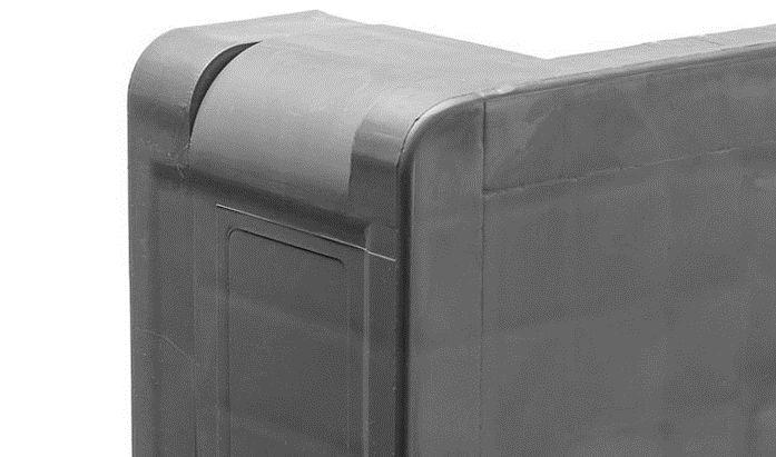 Kunststoff Industriepalette 1200x1000x160 mm, 3 Kufen, Offenes Deck