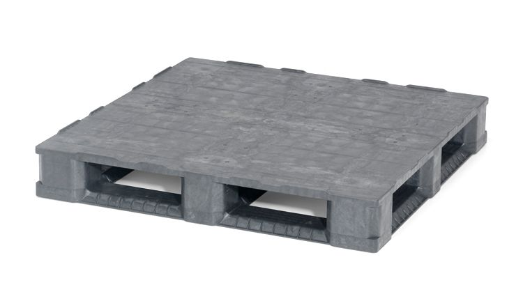 Plastic Container Pallet 1140x1140x165 mm, 6 runners  closed deck