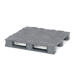 Containerpalette 1140x1140x165 mm, 3 Kufen , geschlossenes Deck