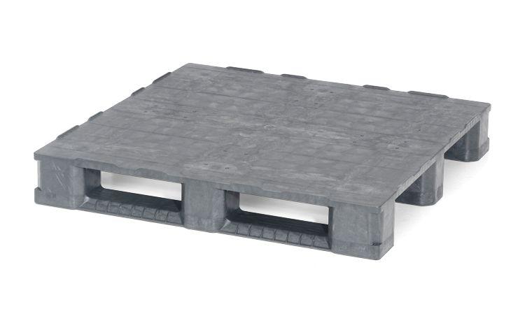 Palette conteneur  en plastique 1140x1140x165 mm, 3 semelles  , planché fermé