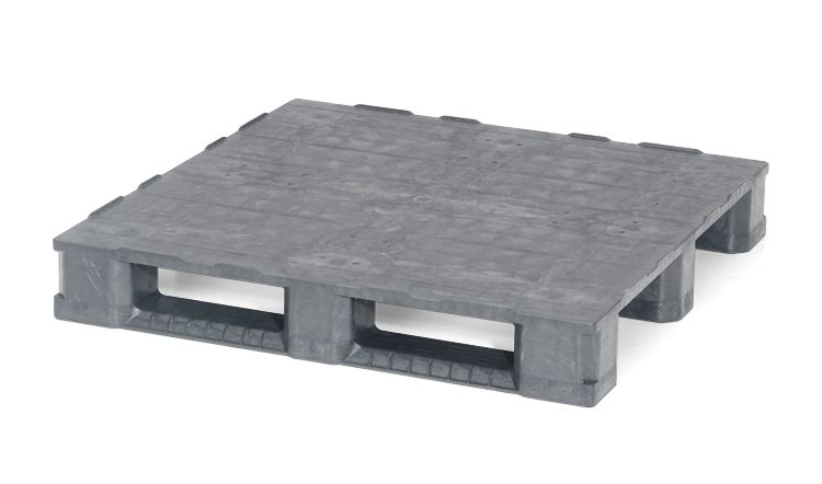 Plastic container Pallet 1140x1140x165 mm, 3 runners  closed deck
