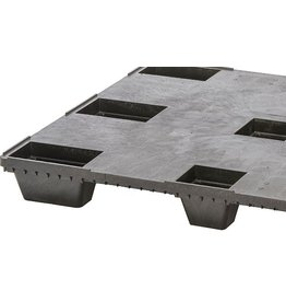 Nestable pallet 1200x1000x134 , closed deck