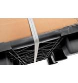Nestbare kunststof container pallet 1140x1140x140, gesloten dek, 9 poten