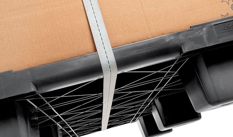 Nestbare Kunststoff Exportpalette 1140x1140x140 ,9 Füsse, Geschlossenes Deck