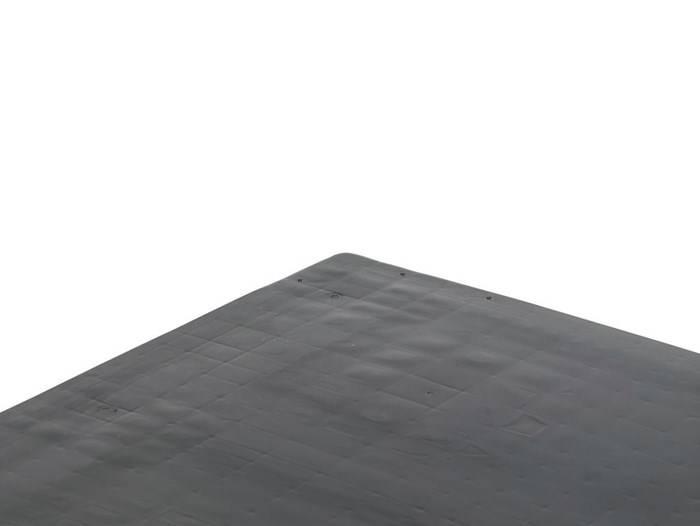Palette Industrie en plastique 1200x1000x160, 3 semelles, planché fermé