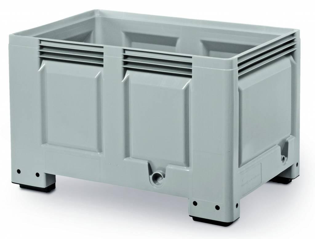 Pallet box, 1200x800x760 gesloten wanden en bodem, 480 Liter, 4 poten