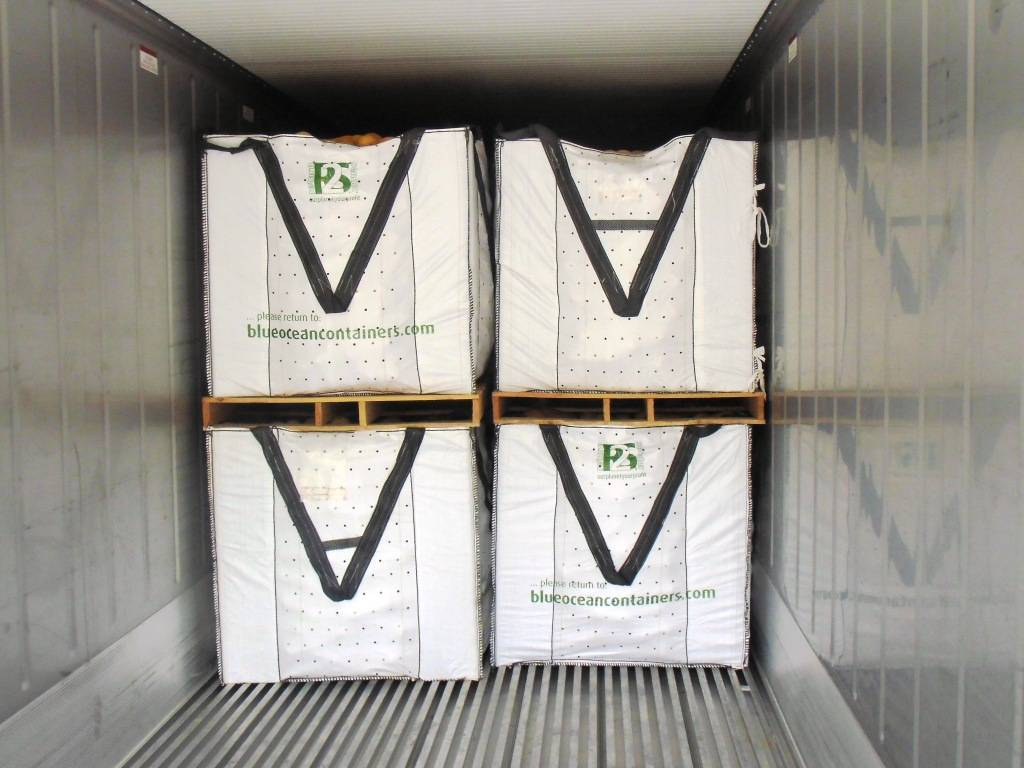 VEGGY103-CP9, uiterst robuust volledig opvouwbare container, 1140x1140x1030 mm