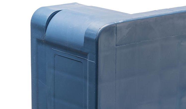 Palette plastique industrielle PPP5 1200x1000x160 mm, 5 traverses, plots anti-glisse, planché ajouré