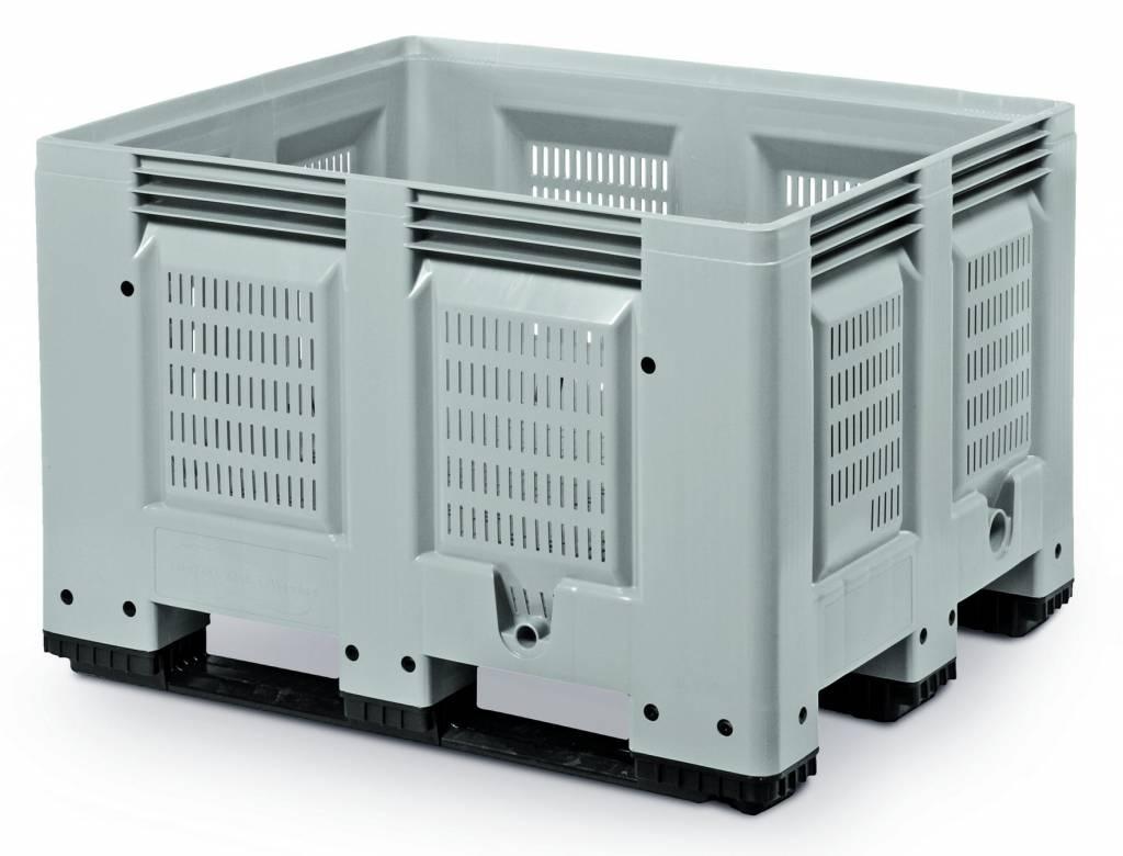 Pallet box, 1200x1000x790 geperforeerde wanden en bodem, 3 onderlatten