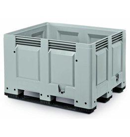 Palettenbox • 1200x1000x790 • Geschlossene Wände en Bodem • 3 Kufen