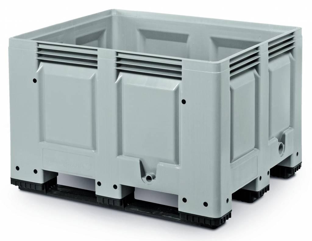Caisse palette rigide 1200x1000x790 mm, 620 Litres, parois fermées, 3 Semelles