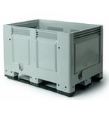 Palettenbox , 1200x800x790 Geschlossene Wände en Bodem, 3 Kufen