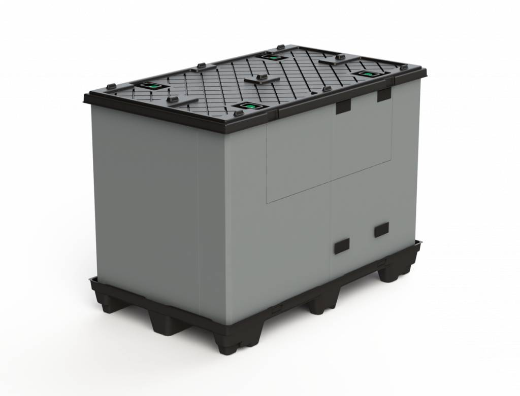 ECOPACK CLASSIC Faltbehälter  1200x800x995 mm, 9 Füssen, Grossvolume