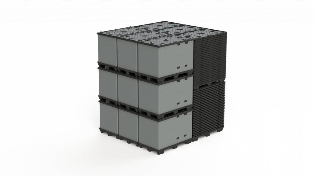 ECOPACK CLASSIC Sleeve Pack 1200x800x995 mm, 9 poten, grootvolume