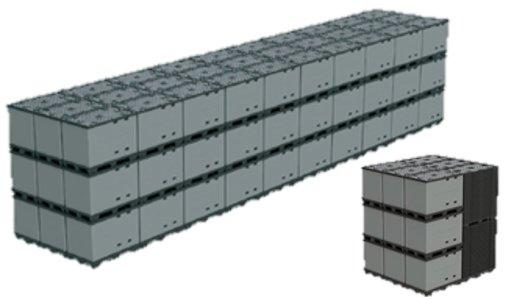 ECOPACK CLASSIC Sleeve Pack 1200x1000x990 mm, 9 poten, grootvolume