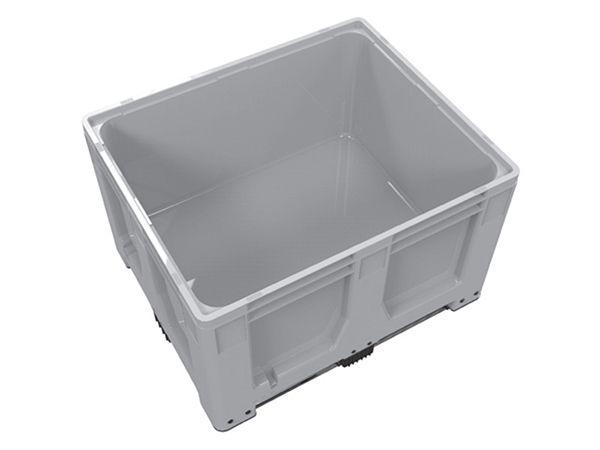 Caisse palette rigide Maxilog® 1200x1000x760 mm, parois fermées, 4 pieds