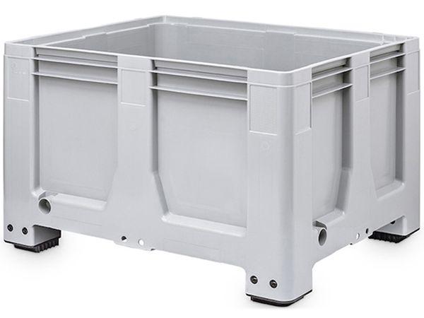 Maxilog® Pallet boxes 1200x1000x760 closed walls and bottom, 4 feet