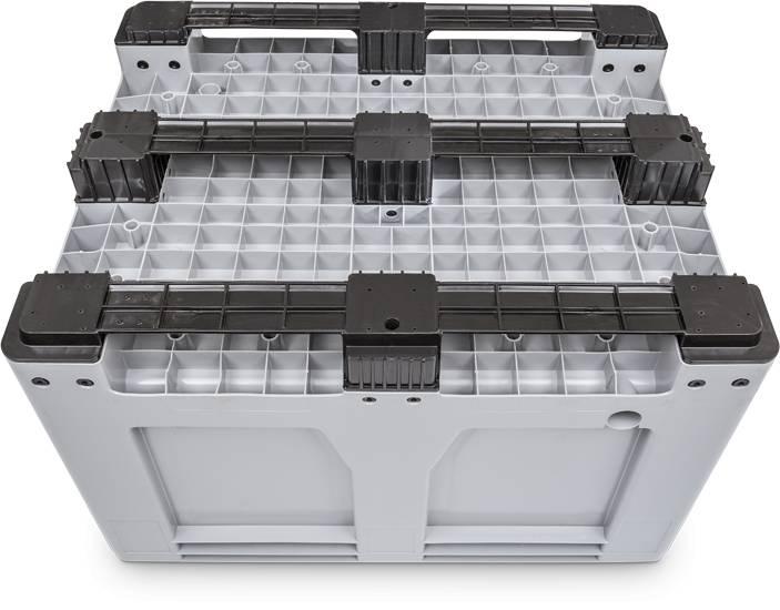 Maxilog® Palettenbox , 1200x1000x760 Geschlossene Wände en Bodem, 3 Kufen, 610 Liter