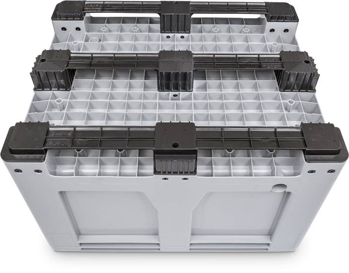 Maxilog®Pallet box, 1200x1000x760 gesloten wanden en bodem, 3 onderlatten, 610 Liter