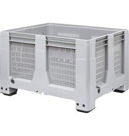 Maxilog® Pallet box 1200x1000x760 geperforeerde wanden, 4 poten