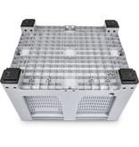 Maxilog®Pallet box, 1200x1000x760 geperforeerde wanden en bodem, 4 poten