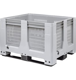 Maxilog® Palettenbox • 1200x1000x760 perforiert • 3 Kufen