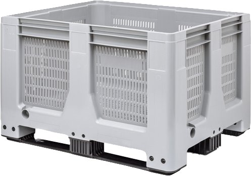 Maxilog® Pallet boxes • 1200x1000x760 •ventilated walls and bottom • 3 runners