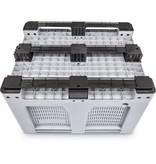 Caisse palette rigide Maxilog® • 1200x1000x760 mm • 610 Litres • parois ajourées • 3 semelles