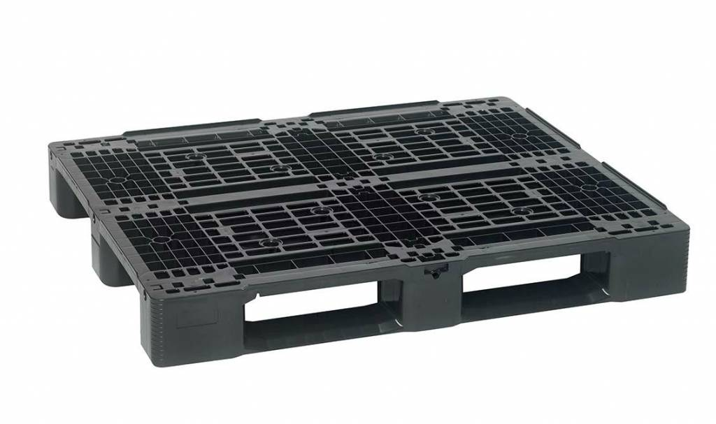 Kunststoff Blokpalette • 1200x1000x150 •mit 3 Kufen • Offenes Deck