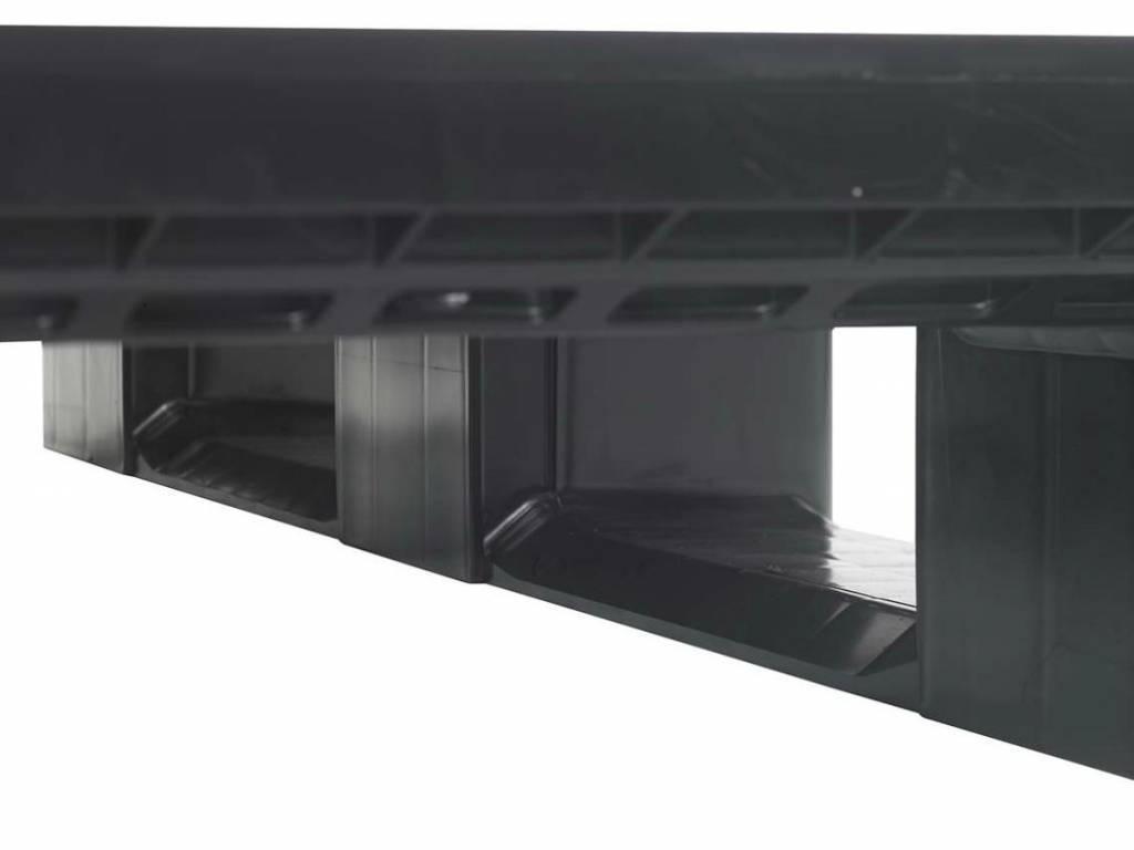 Kunststof blokpallet • 1200x1000x150 • zwaarlast met 3 onderlatten • open dek