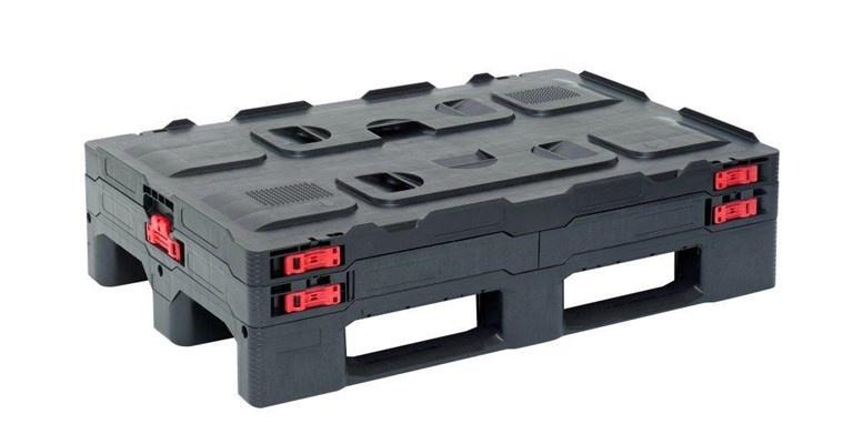 Smart Faltbehälter 1200x800x850 mm mit 3 Kufen.