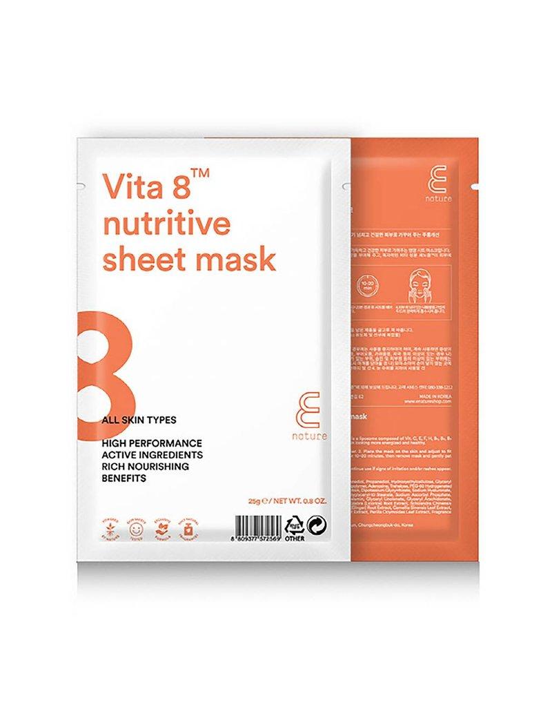 E-Nature E-Nature Vita 8 Nutritive Sheet Mask