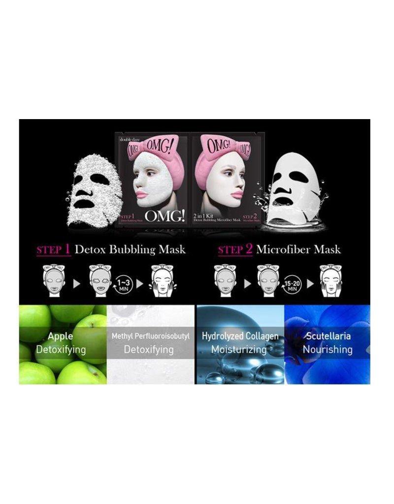 OMG! OMG! - 2-in-1 kit Detox Bubbling Microfiber Mask