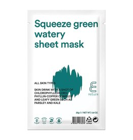 E-Nature E-Nature - Squeeze Green Watery Sheet Mask