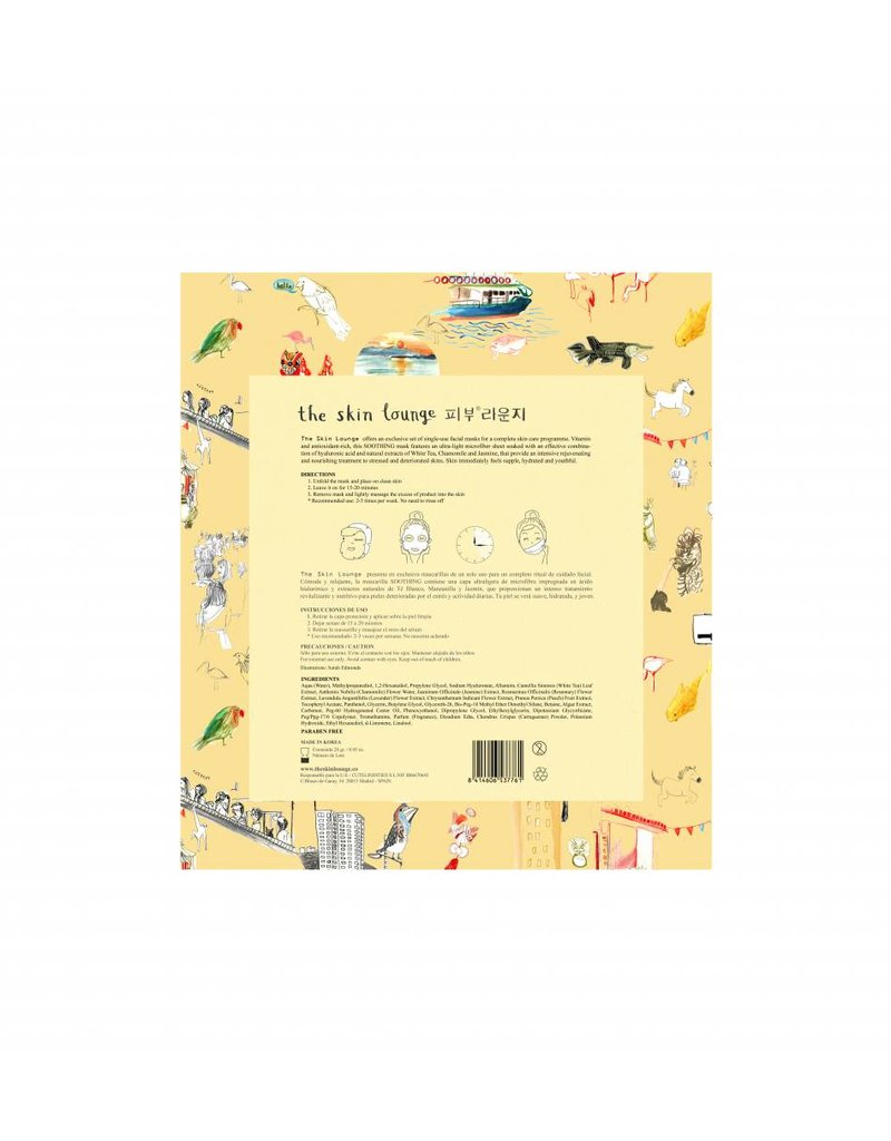 The Skin Lounge The Skin Lounge - White Tea Microfiber Soothing Mask
