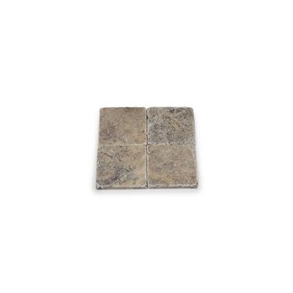 MRMLX  | Travertine Silver Tumbled 10 x 10 x 1 cm