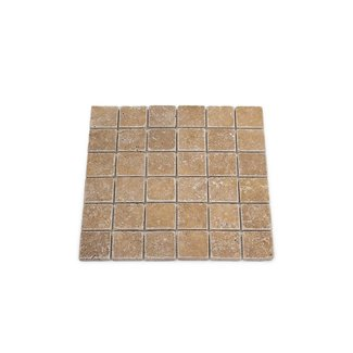 MRMLX | Travertine Noce Tumbled 4,8 x 4,8 x 1 cm