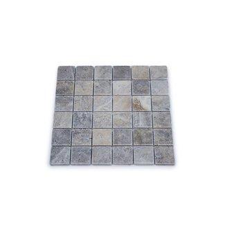 MRMLX | Travertine Silver Tumbled 4,8 x 4,8 x 1 cm