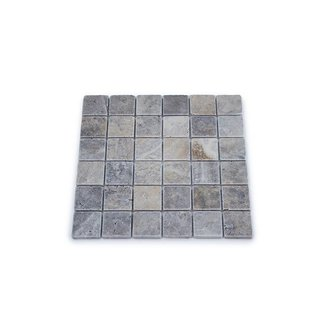 Travertine Silver Large 30,5 x 30,5 x 1 cm