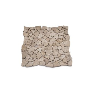 Travertine Light Verouderd Mini Flagstones 2/5 cm
