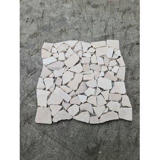 Burdur Beige Verouderd Mini Flagstones 2/5 cm