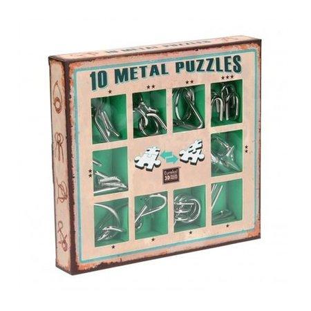 Eureka 10 Metal Puzzles (groen)