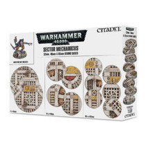 Warhammer 40,000 Bases: Sector Mechanicus - 32mm, 40mm & 65mm Round Bases (20&40)