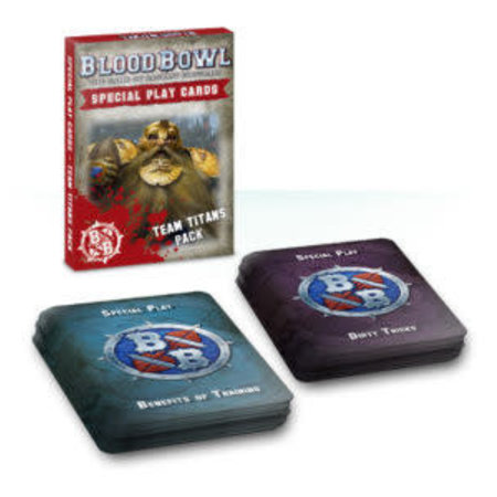 Games Workshop Blood Bowl: Special Play Cards Team Titans Pack