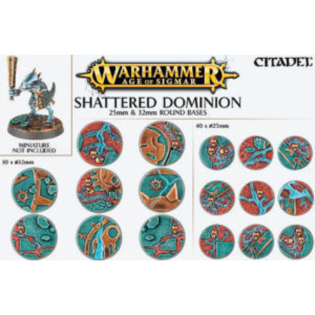 Games Workshop Shattered Dominion: 25mm & 32 Round Bases