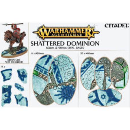 Games Workshop Shattered Dominion: 60mm & 90mm Oval Bases