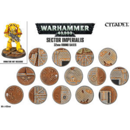 Games Workshop Sector Imperialis: 32mm Round Bases (60)