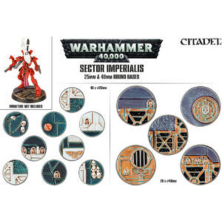 Games Workshop Sector Imperialis: 25mm & 40mm Round Bases (20&40)